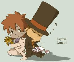 Layton and Lando by amerikam