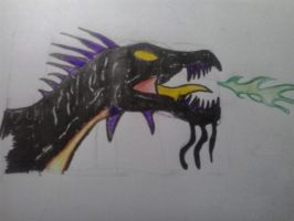 Sketch: Dragon-Wyvern (Recolored) by Nuevolucion