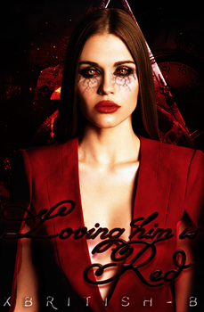Wattpad Cover : Loving him is red by openyoureyesandlive