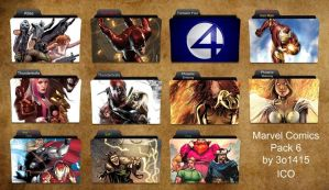 Marvel Comics Folder Icons 6 by 3o1415