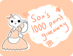 [ SOX'S 2000 WATCHER GIVEAWAY ] by sockjuice