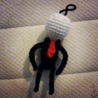 Commission: Slenderman Keychain by michelle-murder
