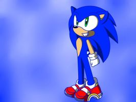 Sonic in his SA2 shoes by EmilyTheHedgehog1000