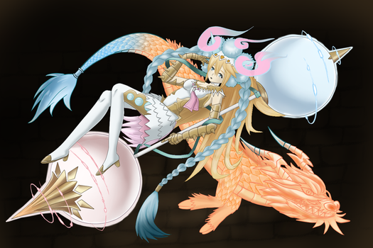 017-Sakuya [Puzzle and Dragons] by Killerkirb