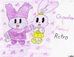 Chowder and Panini Retro by murumokirby360