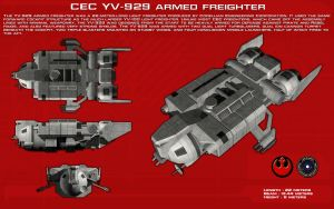 YV-929 armed freighter ortho [New] by unusualsuspex
