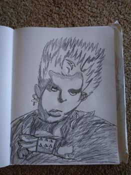 A Billy Idol Sketch!~ by CutemayStrikesAgain