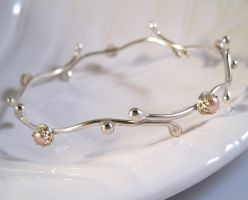 Pearl Elven bangle by sparkfairy