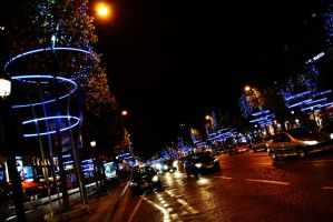 Christmas time Champs Elysees by Mazarde