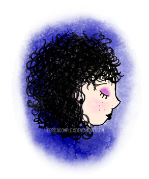 Curly And Blue by jessicacomplex