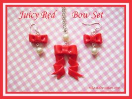 Juicy Red Bow set by Nika-N