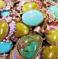 Pile of Turquoise Pendants by lionesspuma