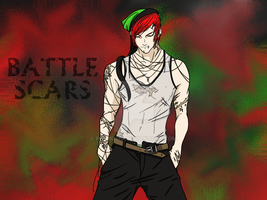 :Battle Scars: by FoxHomo