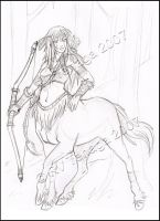 Tenaga_The_Centaur_Sketch by Tenaga