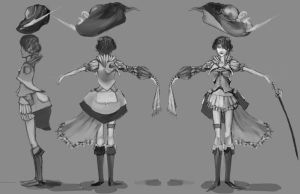 female Rapier Turnaround by Puillustrated