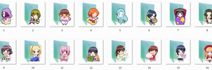 The World God Only Knows Folder Icons by Ginokami6