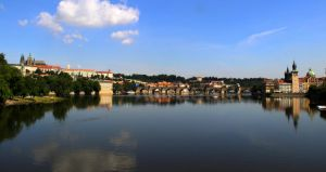 Prague on the river by Lilleninja