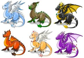 x. Dragons Variations by Atashka