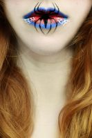Spiderman Lip Art by Chuchy5