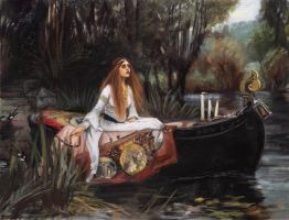 The Lady Of Shalott Study by hayleymerrington