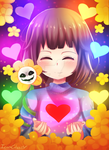 Undertale Fanart: Frisk and Flowey  (ALSO PRINTS) by IciaChan