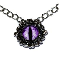 Purple Dragon Eye Necklace by CatherinetteRings