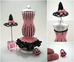 Pink Halloween Mermaid Bead Dress Collection by pinkythepink