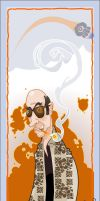 Hunter S Thompson by WonderDookie