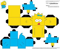Cubee - Maggie Simpson by CyberDrone