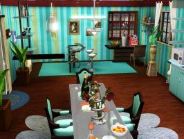 My Sim's House: Kitchen by zzpopzz