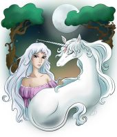 The Last Unicorn by Aki3b