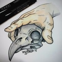 Tattoo_design_skull by myffasa