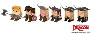 How to Train Your Dragon Papercraft by 7AHO