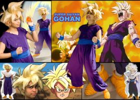 DBZCosplay - SSJ Gohan collage by TechnoRanma