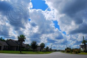 A Canopy of Clouds and My House. by adamforce