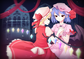 Touhou - Scarlet sisters by Puffyko