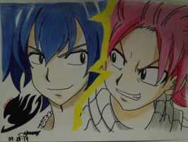 Gray Fullbuster Vs. Natsu Dragneel (Chiko) by oreo-and-chiko-chan