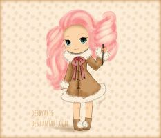 Cotton Candy Chibi Girl by DebbyArts
