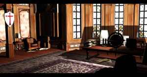Library Room 2 | Croft Manor by Rockeeterl
