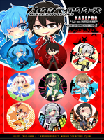 Kagerou Project Buttons by criis-chan