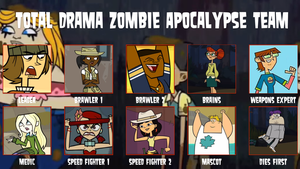air30002's Total Drama Zombie Apocalypse Team by air30002