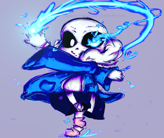 Sans - Blue Dancing Now ! by Ethtarra