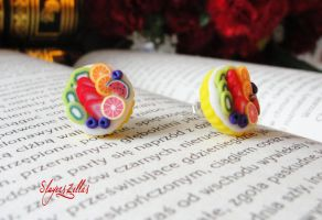 Mini fruit tarts post earrings 5 by Benia1991