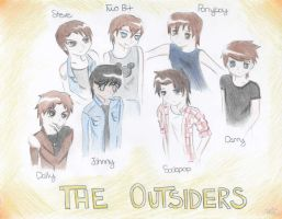 The Outsiders -color- by SasukeUchihable