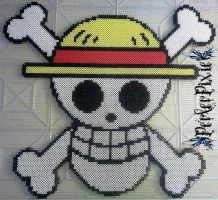 Luffy's Jolly Roger by PerlerPixie