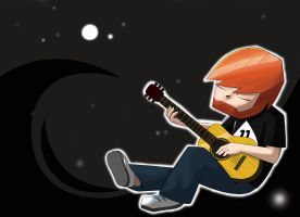 Sparkles* Playing Guitar | Yogscast Fan-art by Littlewords1
