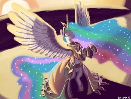 Celestia Raises the Sun by Art-Anon