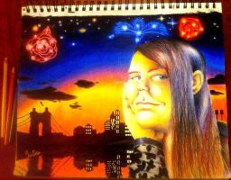 Self-Portrait: At the Skyline at Dusk by AngelLux13