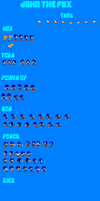 John The Fox Sprite Sheet Preview by FlamingInfernoX