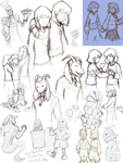 Undertale Doodles Part 3 May 2016-Oct 2016 by DarkPheonixtma